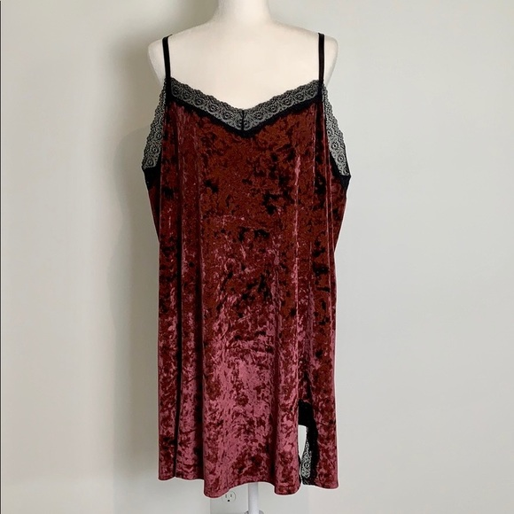 Cacique Other - Cacique Velvet Sleep Dress